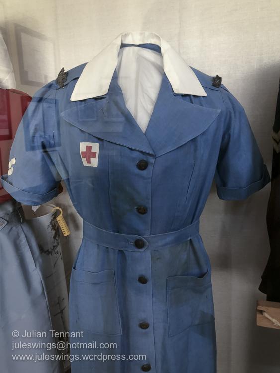 Uniform worn by nurses who served with the 2/1st Australian General Hospital in Merredin, 1942/3. Photo: Julian Tennant