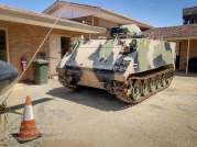 Australian Army M113 Armoured Personnel Carrier at the Merredin Military Museum. Photo: Julian Tennant