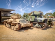 Mk III Valentine and M3 Grant tanks undergoing conservation and restoration at the Merredin Military Museum. Photo: Julian Tennant