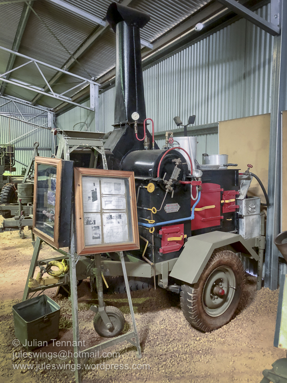 The Wiles Junior Mobile Cooker. Invented by Boer War veteran, James Fletcher Wiles, who recognised the difficulties involved in preparing hot meals for troops close to the front-line. During World War 1 over 300 of these cookers were used in Australia, Egypt and France by Australian troops. Photo: Julian Tennant