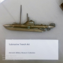 Unusual Submarine Trench Art made from brass shell casings and bullet heads. Photo: Julian Tennant