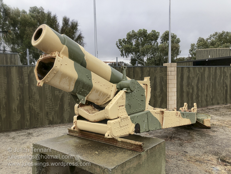 The Merredin Military Museum is easily found from the street with this World War 1 Vickers manufactured Ordnance BL 6 inch 26cwt howitzer sitting out the front of the museum. Photo: Julian Tennant