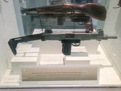 Royal Malaysian Customs Department Museum. Toy guns seized by the Customs Department.