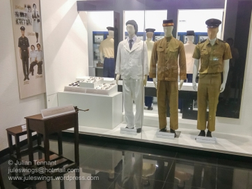Royal Malaysian Customs Department Museum. Uniforms worn by Customs Department officials.