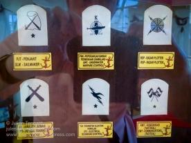 Royal Malaysian Navy Museum (Muzium Tentera Laut Diraja Malaysia). RMN trade badges.