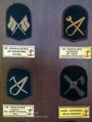 Royal Malaysian Navy Museum (Muzium Tentera Laut Diraja Malaysia). RMN bullion trade badges.