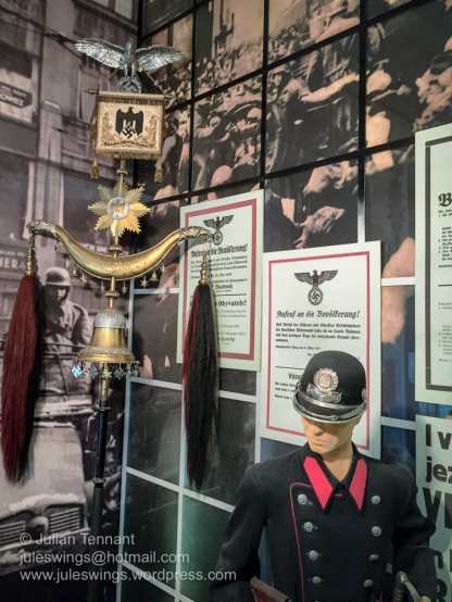 Exhibit of items relating to the German occupation of Czechoslovakia in 1938 at the Czech Army Museum Žižkov