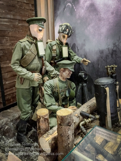 Display in the First World War gallery at the the Army Museum Žižkov.