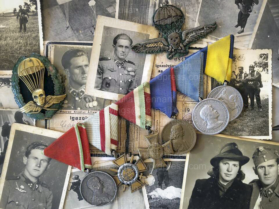 A rare WW2 Hungarian Paratrooper's medalgroup