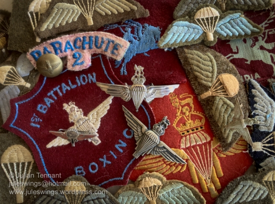 A handful of the World War 2 British Airborne wings and insignia in my collection. Photo: Julian Tennant
