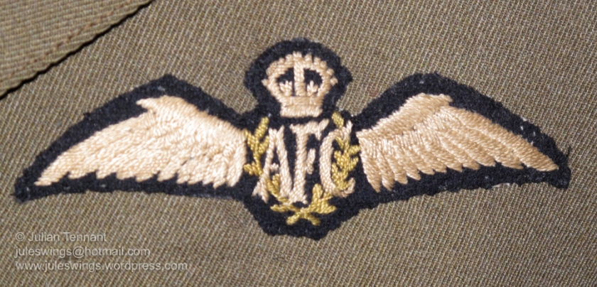 Third pattern Australian Flying Corps brevet, authorised by M.O. 68/1918 on 16th February 1918. It should be noted that despite these wings only being authorised in February 1918, this style of wing were unofficially worn as far back as November 1916. This particular example is the issue variation that became commonplace after formal authorisation. Photo: Julian Tennant