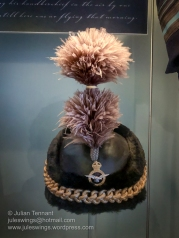 Royal Australian Air Force Busby used by Air Marshal Sir Richard Williams, Chief of the Air Staff, on ceremonial uniforms for State and Royal occasions during the 1920's and 30's. An unpopular form of head-dress, the Busby ceased to be worn by the time of the outbreak of WW2. Photo: Julian Tennant