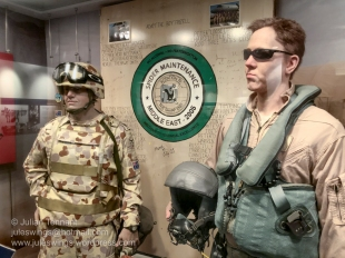 Afghanistan, Iraq and the Middle East Area of Operations display in the Heritage gallery. Photo: Julian Tennant