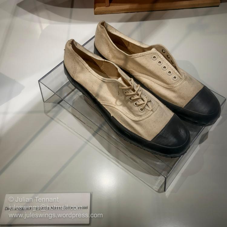 RAAF issue Deck shoes worn aboard a RAAF Marine Section vessel. Photo: Julian Tennant