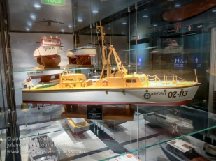 Model of the Mk II Air Sea Rescue boat used by the RAAF Maritime Section. These watercraft were built in 1953 and still used in the late 1970's. Photo: Julian Tennant