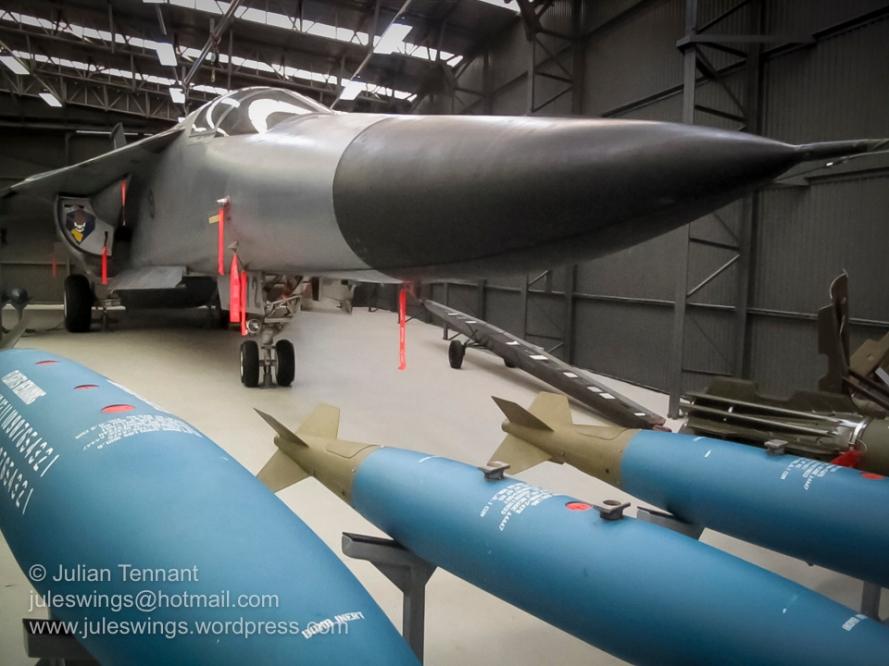 General Dynamics F-111G (A8-272) on display in the Strike/Recce Hangar 178. Photo: Julian Tennant