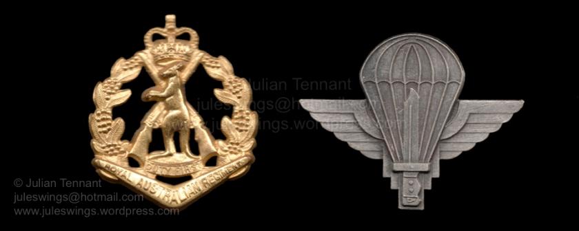 Beret badges of 6RAR Para Coy Gp