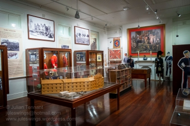 View of the Pre-1914 Gallery at the Army Museum of Western Australia. Photo: Julian Tennant