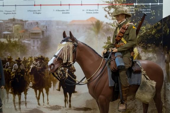 Australian Light Horseman in the Sinai campaign at the Army Museum of Western Australia. Photo: Julian Tennant