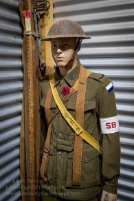 Stretcher bearer on the Western Front. Photo: Julian Tennant