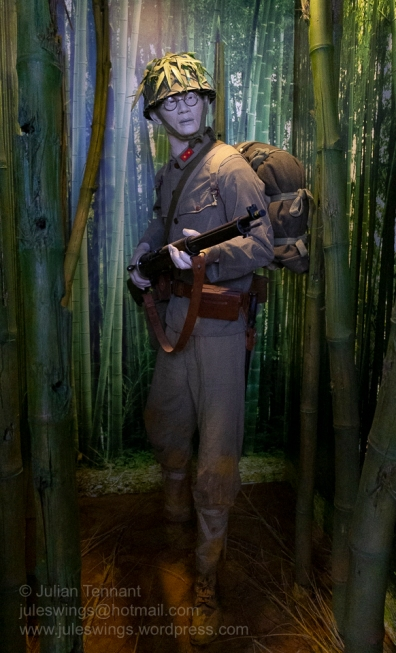 A soldier of the Japanese XXV Army as encountered during the battles for Malaya and Singapore in late 1941 and early 1942. He is armed with a Type 38 Ariska 6.5mm rifle with a Type 30 bayonet. Photo: Julian Tennant
