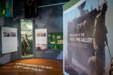 Entrance to the POST 1945 GALLERY at the Army Museum of Western Australia. Photo: Julian Tennant