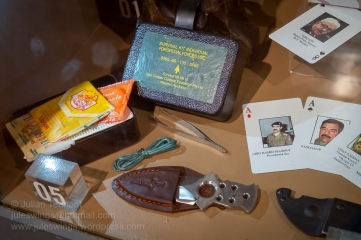 Australian Special Forces Survival Kit and 'Most Wanted' playing/identification cards from the invasion of Iraq 2003. Photo: Julian Tennant