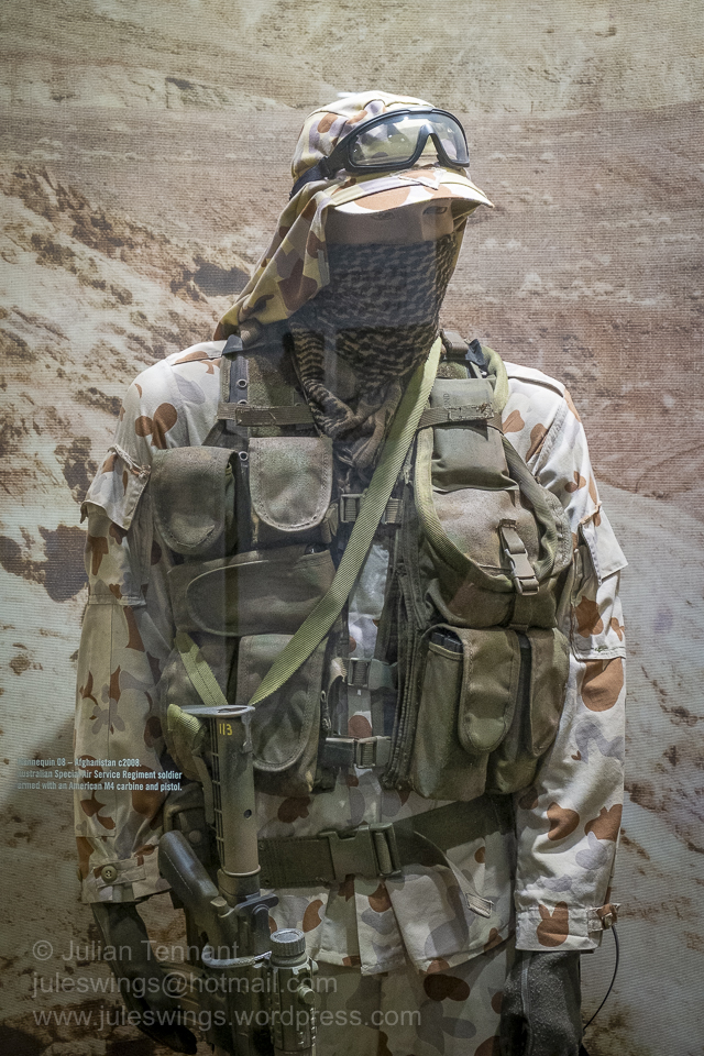 Australian Special Air Service trooper armed with an M4 carbine and pistol. Afghanistan 2008. Photo: Julian Tennant
