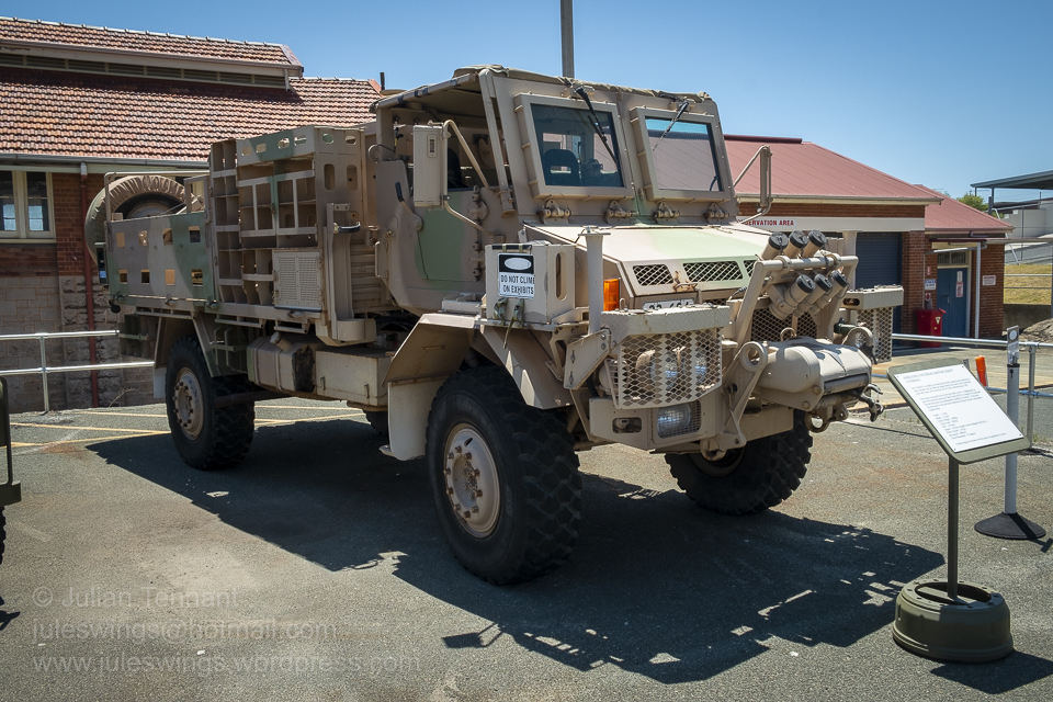 Special Air Service Regiment / Special Operations Task Group (SOTG) Afghanistan modified Mercedes Unimog. These vehicles were 'up armoured' and modified to meet the specific operational requirements whilst operating in Afghanistan between 2005 until 2011. Photo: Julian Tennant