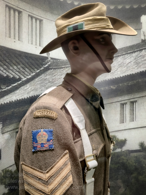Australian Army Sergeant in the 65th Infantry Battalion serving with the BCOF forces in Japan c1947. Photo: Julian Tennant