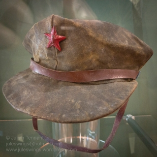 Malayan Communist (CT) peak cap. These caps were not standard issue and rarely seen. Photo: Julian Tennant