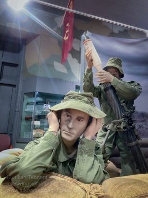 Vietnam mortar crew diorama in the Post 1945 gallery at the Army Museum of Western Australia. Photo: Julian Tennant