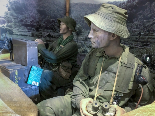 Vietnam gun pit diorama in the Post 1945 gallery at the Army Museum of Western Australia. Photo: Julian Tennant
