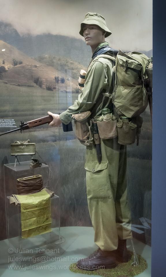 Australian soldier - South Vietnam c1969. Beside him is a M18A1 (Claymore) Anti Personnel Mine. Photo: Julian Tennant
