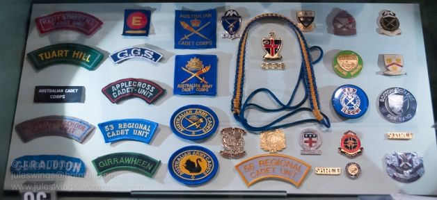 Army Cadet Corps insignia worn in Western Australia. Photo: Julian Tennant