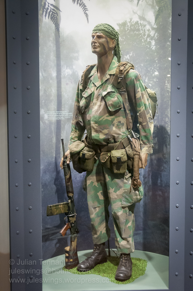 Australian Special Air Service Regiment (SASR) trooper Vietnam, circa 1969. Note the in-country 'chopped-down' L1A1 SLR rifle. Photo: Julian Tennant