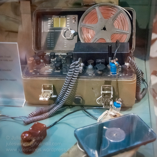 Delco AN/PRC-64 radio, which was used by the Australian Special Air Service Regiment (SASR) as their principle patrol radio for communications back to SHQ during their operations in Vietnam. Photo: Julian Tennant