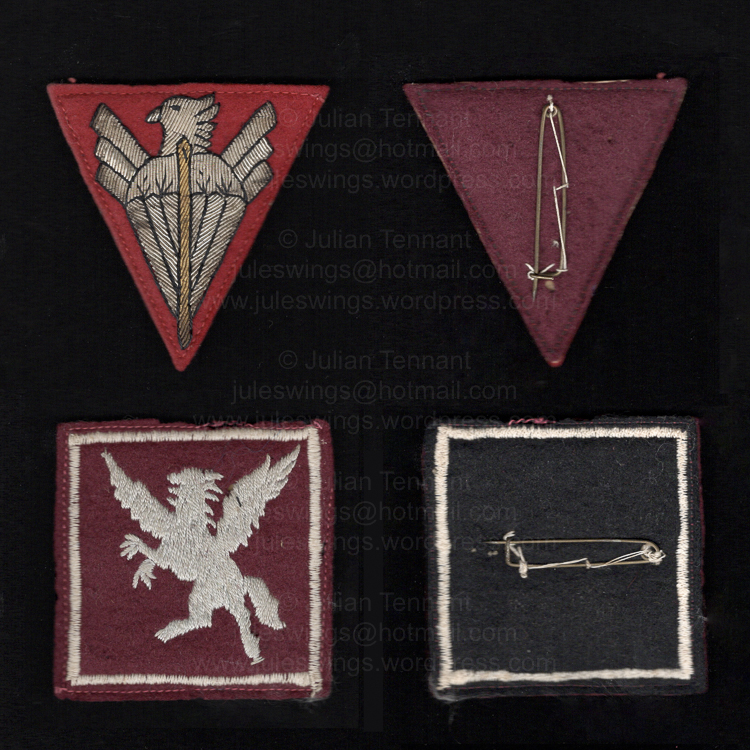 An unidentified French Indochina or 1950's period Airborne unitbadge.