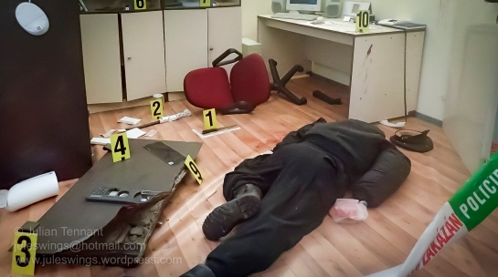 Police forensics and crime scene display at the Czech Police Museum. Photo: Julian Tennant