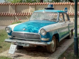 GAZ-21 Volga used by the Czech traffic police during the Communist era. Photo: Julian Tennant