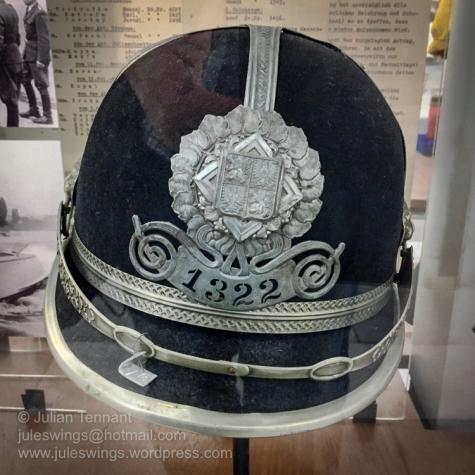 Czech Police Helmet 1930's period. Photo: Julian Tennant