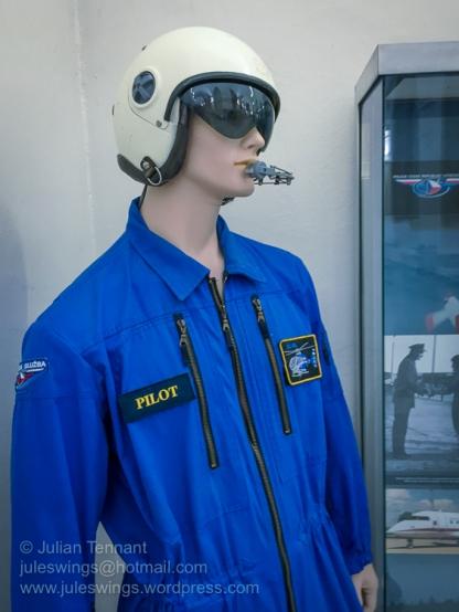 Czech Police aviator flight suit and helmet. Photo: Julian Tennant