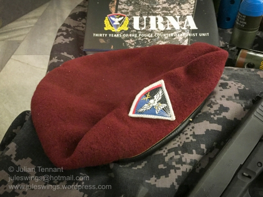 Czech police special unit URNA (Útvar rychlého nasazení) beret
