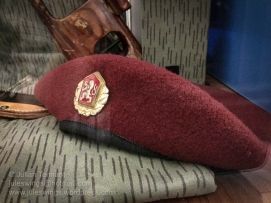 OZU (Police Special Purpose Unit) beret. Photo: Julian Tennant