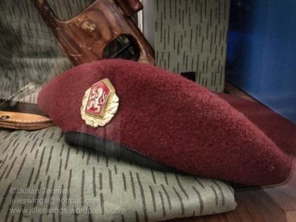 OZU (Police Special Purpose Unit) beret. Photo: Julian Tennant