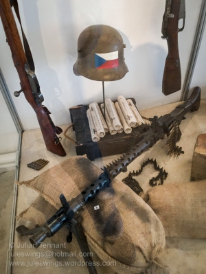 Weapons and equipment relating to the May uprising and resistance against the Nazi's. Photo: Julian Tennant