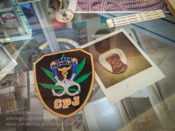 Anti-Drug unit patch of the Criminal Police and Investigation service. Photo: Julian Tennant