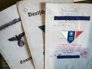 German occupation and resistance related documents. Photo: Julian Tennant