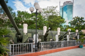 Various artillery pieces on the grounds of the Ho Chi Minh Campaign Museum. Photo: Julian Tennant