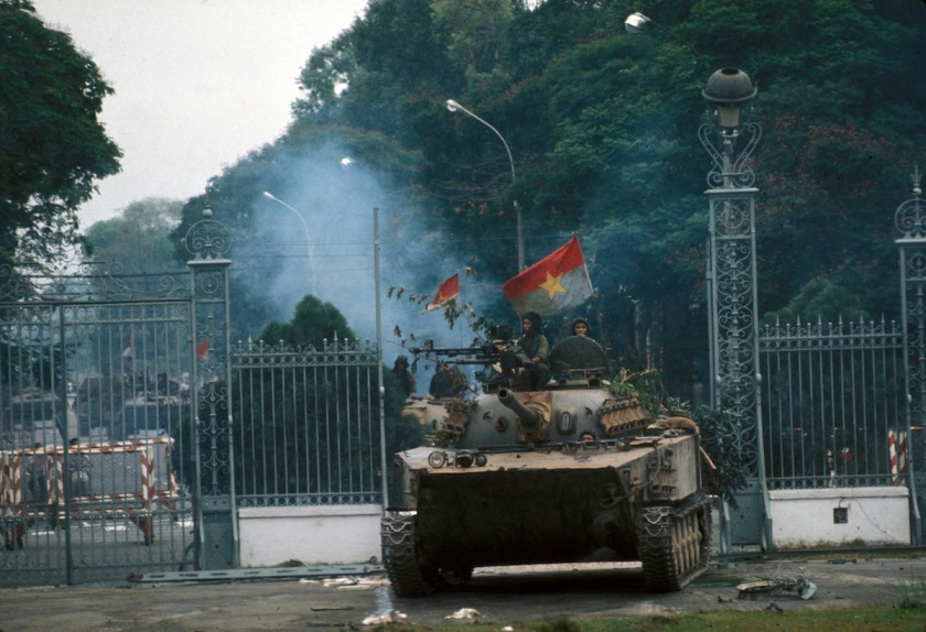 War of Vietnam. Saigon's fall. Taken of the presid